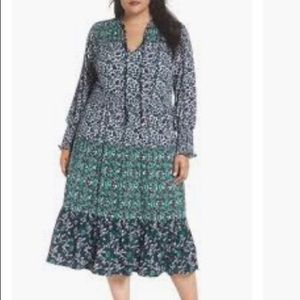 NWOT Michael Kors Triple Print Plus Size Dress